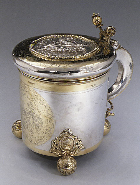Tankard, Johann Berend (master 1696, died 1704), Silver, partly gilt, Livonian, Riga