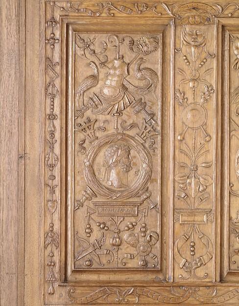 Panel (part of a set), Nicolas Castille (active 1503–21), Carved oak, French
