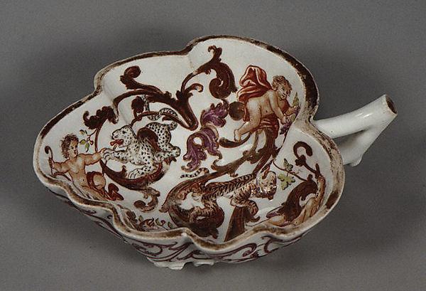 Dish, Vienna, Hard-paste porcelain, Austrian, Vienna with German, Breslau decoration