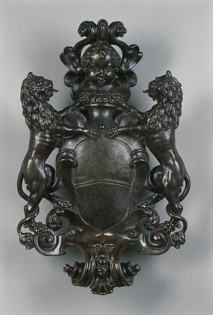 Door knocker (one of a pair), Manner of Hubert Gerhard (Netherlandish, 1540/50–1621, active Germany), Bronze, German, Augsburg