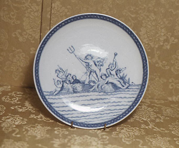 Plate, Based on a composition by Abraham Bloemaert (Netherlandish, Gorinchem 1566–1651 Utrecht), Hard-paste porcelain, Chinese, probably for Dutch market