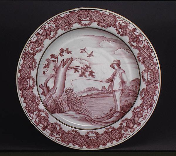 Plate, After a design by Abraham Bloemaert (Netherlandish, Gorinchem 1566–1651 Utrecht), Hard-paste porcelain, Chinese, for European market