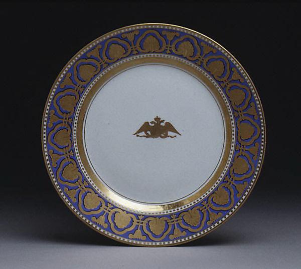 Plate, Imperial Porcelain Manufactory, St. Petersburg (Russian, 1744–present), Hard-paste porcelain, Russian, St. Petersburg