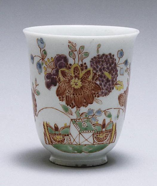 Beaker, Doccia Porcelain Manufactory (Italian, 1737–1896), Hard-paste porcelain, Italian, Florence