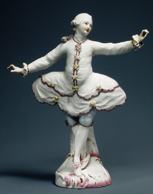 Dancer (one of a pair), Höchst Manufactory (German, 1746–1796), Hard-paste porcelain, German, Höchst
