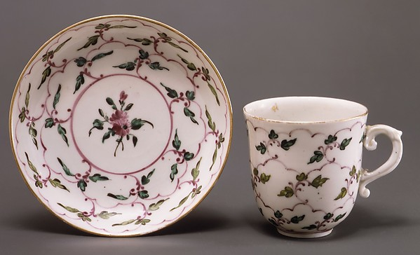 Cup and saucer, Doccia Porcelain Manufactory (Italian, 1737–1896), Hard-paste porcelain, Italian, Florence