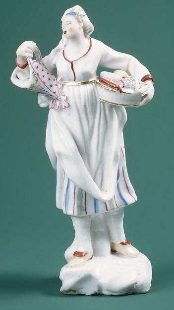 Seamstress, Capodimonte Porcelain Factory (Italian, 1740/43–1759), Soft-paste porcelain, Italian, Naples