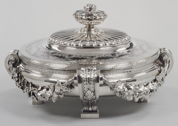 Dish with cover and liner, Jacques-Nicolas Roettiers (1736–1788, master 1765, retired 1777), Silver, French, Paris