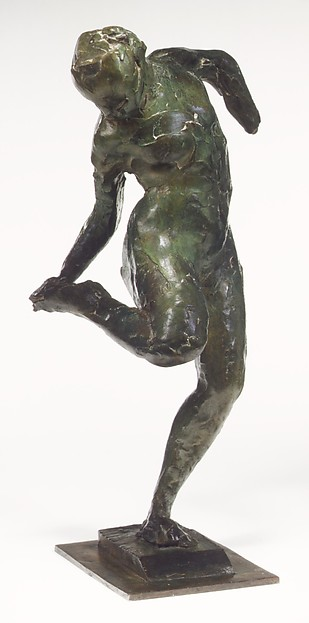 Dancer Looking at the Sole of Her Right Foot (First State), Edgar Degas (French, Paris 1834–1917 Paris), Bronze, French