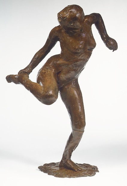 Dancer Looking at the Sole of Her Right Foot (Third State), Edgar Degas (French, Paris 1834–1917 Paris), Bronze, French