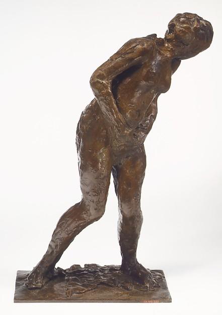 Woman Taken Unawares, Edgar Degas (French, Paris 1834–1917 Paris), Bronze, French