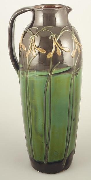 Pitcher, Designed by Max Läuger (German, 1864–1952), Earthenware, German, Kandern