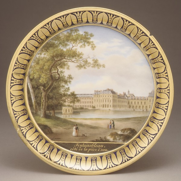 Saucer, Sèvres Manufactory (French, 1740–present), Hard-paste porcelain, French, Sèvres