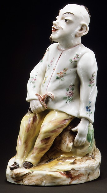 Seated Chinese, Possibly Mennecy or, Soft-paste porcelain, French, possibly Mennecy or Sceaux