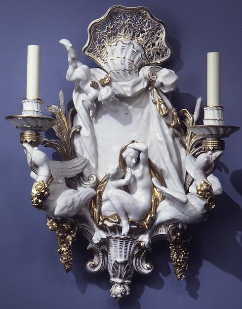 Sconce (one of a pair), Meissen Manufactory (German, 1710–present), Hard-paste porcelain, German, Meissen