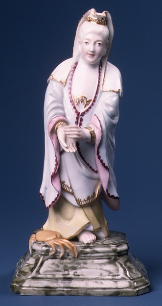 Kuan Yin, Höchst Manufactory (German, 1746–1796), Hard-paste porcelain, German, Höchst