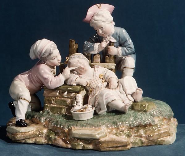 Disturbed Slumber, Höchst Manufactory (German, 1746–1796), Hard-paste porcelain, German, Höchst