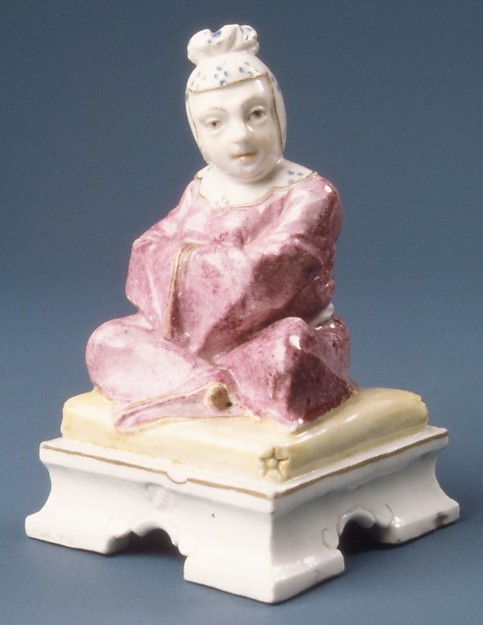 Figure of a seated Chinese woman, Nymphenburg Porcelain Manufactory (German, 1747–present), Hard-paste porcelain, German, Nymphenburg