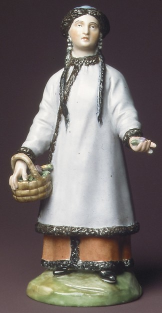 Tartar Woman, Imperial Porcelain Manufactory, St. Petersburg (Russian, 1744–present), Hard-paste porcelain, Russian, St. Petersburg