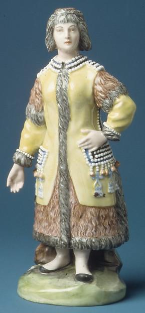 Yakut Woman, Imperial Porcelain Manufactory, St. Petersburg (Russian, 1744–present), Hard-paste porcelain, Russian, St. Petersburg