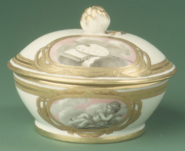 Sugar bowl (from a tea service), Imperial Porcelain Manufactory, St. Petersburg (Russian, 1744–present), Hard-paste porcelain, Russian, St. Petersburg