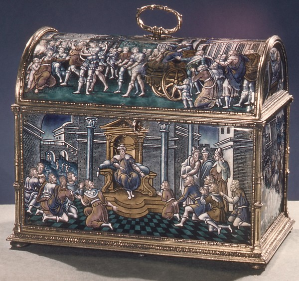 The Story of Joseph, Painted enamel on copper, partly gilt, French, Limoges