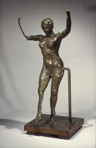 Dancer Moving Forward, Arms Raised, Right Leg Forward (Second State), Edgar Degas (French, Paris 1834–1917 Paris), Bronze, French
