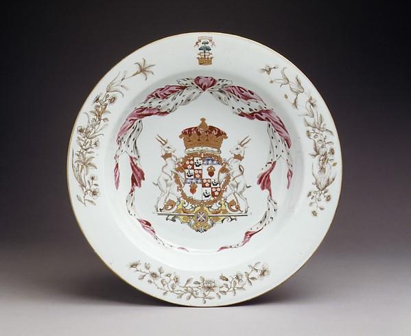 Bowl (part of a service), Hard-paste porcelain, Chinese, for Scottish market