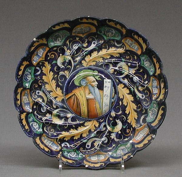Dish, Maiolica (tin-glazed earthenware), Italian, Faenza