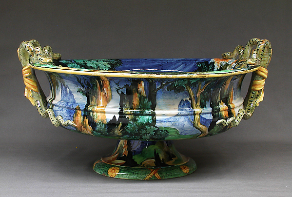 Cistern, Possibly by the workshop of Orazio Fontana (Italian, Urbino, ca. 1510–1576), Maiolica (tin-glazed earthenware), Italian, Urbino