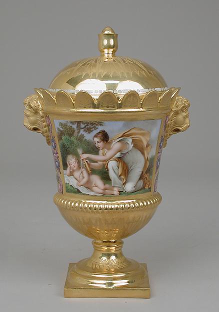 Sugar bowl with cover, part of Breakfast Service (déjeuner), Sèvres Manufactory (French, 1740–present), Hard-paste porcelain, French, Sèvres