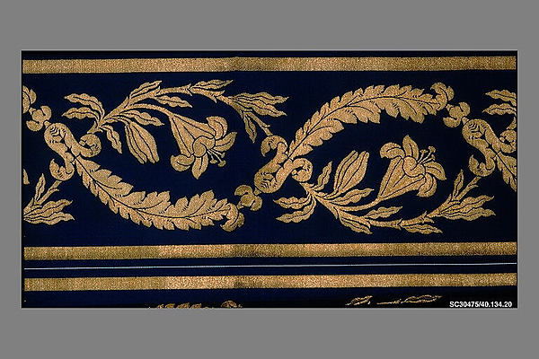 Borders (2), Silk and metal thread, French, Lyons