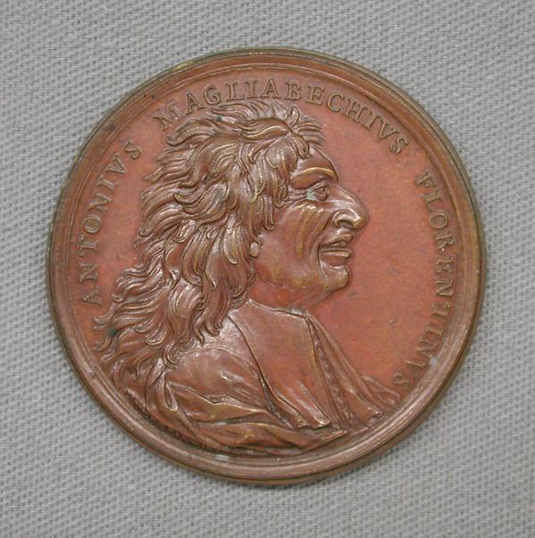 In Honor of Antonio Magliabecchi, Florentine Librarian, Medalist: M. Antonio di Gennaro (Italian, 1675–1744), Bronze, Italian
