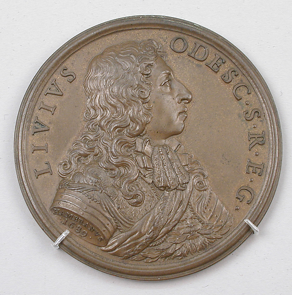 In honor of Livio Odescalchi, Gonfaloniere (Standard-Bearer) of the Holy Roman Church, Medalist: Giovanni Martino Hamerani (Italian, 1646/9–1705), Bronze, Italian