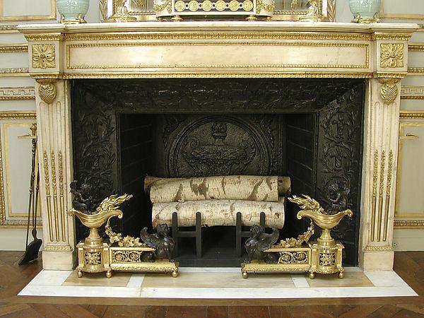Chimneypiece, Carrara marble, gilt bronze, French, Paris