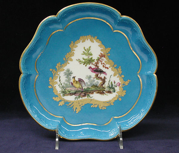 Stand for ice-cream cup (plateau Bouret) (one of four) (part of a service), Sèvres Manufactory (French, 1740–present), Soft-paste porcelain, French, Sèvres