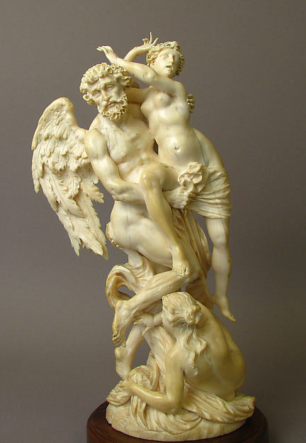 Time Ravishing Youth and Beauty, Ivory, German or Austrian
