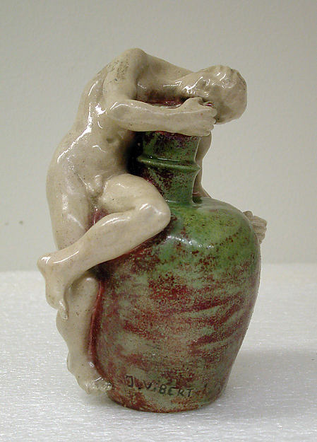 L'Ivresse, After a model by James Vibert (Swiss (active also in Paris), born 1872), Glazed earthenware, French, Paris