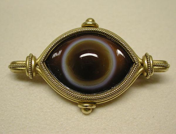 Brooch, Firm of Castellani, Agate, gold, Italian, Rome