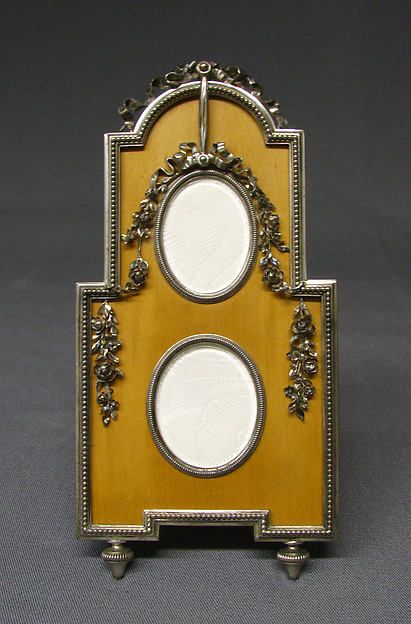 Picture frame, House of Carl Fabergé, Silver gilt, holly wood, Russian,St. Petersburg