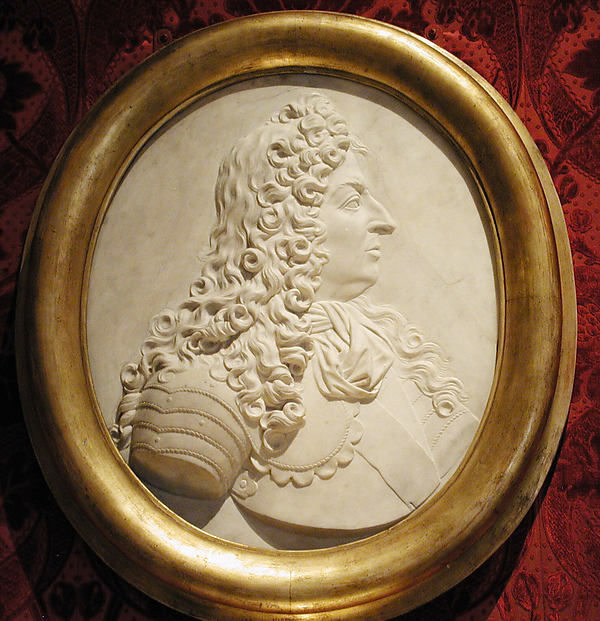 Portrait relief of Louis XIV (1638–1715), In the style of François Girardon (French, Troyes 1628–1715 Paris), Marble, French