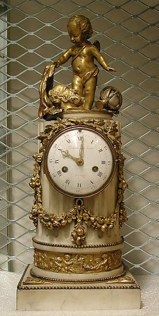 Clock, Clockmaker: Festau Le Jeune (probably Simon-François) (active 1776–81), Gilt bronze and marble, French, Paris