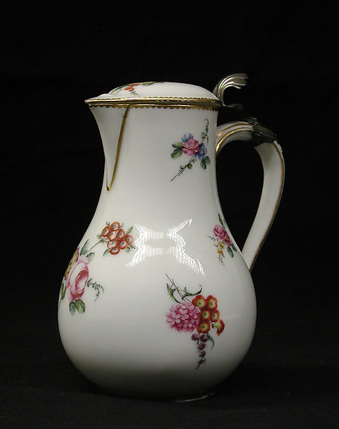 Ewer, Sèvres Manufactory (French, 1740–present), Soft-paste porcelain, French, Sèvres
