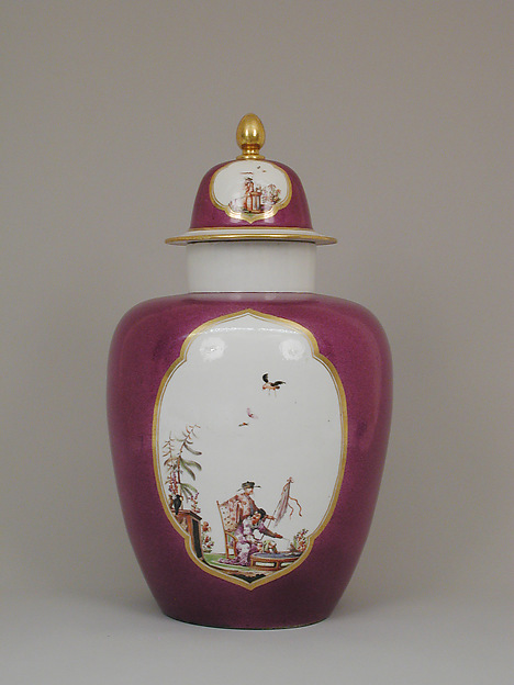 Vase with cover, Meissen Manufactory (German, 1710–present), Hard-paste porcelain, German, Meissen