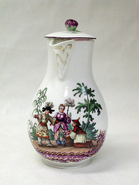 Hot milk jug, Höchst Manufactory (German, 1746–1796), Hard-paste porcelain, German, Höchst