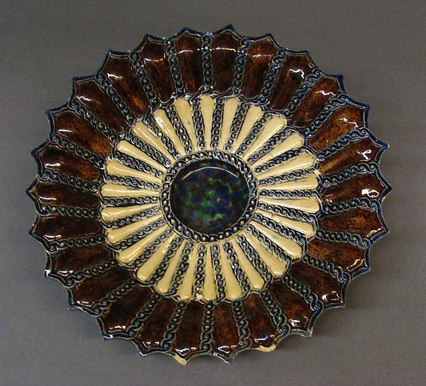Dish, Manner of Bernard Palissy (French, Agen, Lot-et-Garonne 1510–1590 Paris), Lead-glazed earthenware, French