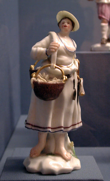 Peddler of eels, Capodimonte Porcelain Factory (Italian, 1740/43–1759), Soft-paste porcelain, Italian, Naples