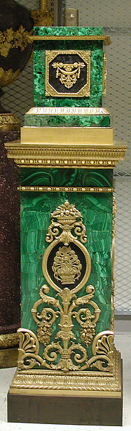 Twelve-light torchère (one of a pair), Pierre Philippe Thomire (French, Paris 1751–1843 Paris), Malachite veneered on copper, patinated bronze, gilt bronze, French