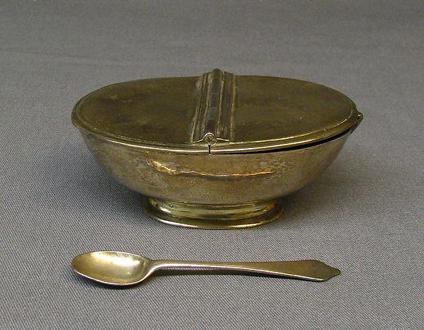 Incense boat and spoon, Benjamin Pyne (active 1693–1727), Silver, British, London