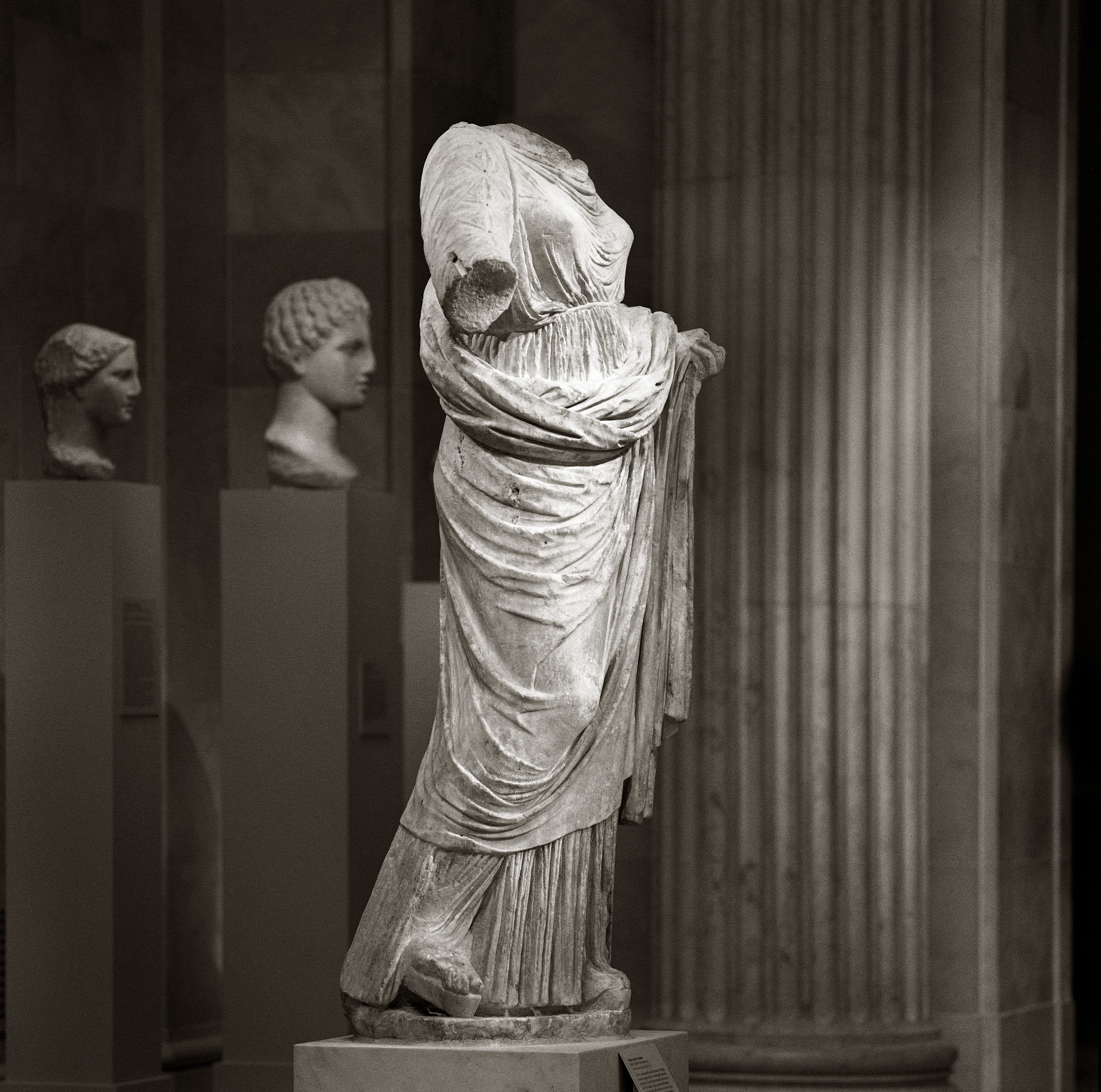 marble statue of a woman greek late classical the met